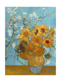 Collage Design with Painting Elements - Sunflowers & Almond Branches in Bloom Giclee Print by Elements of Vincent Van Gogh