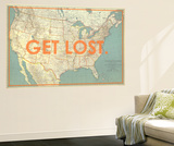 Get Lost - 1933 United States of America Map Wall Mural by  National Geographic Maps