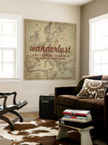 Wanderlust - 1915 Europe Map with Africa and Asia Map Wall Mural by  National Geographic Maps