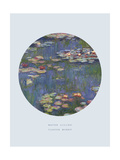 Old Masters, New Circles: Water Lilies (Nympheas), c.1916 Lámina giclée por Claude Monet