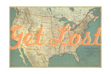 Get Lost - 1933 United States of America Map Giclee Print