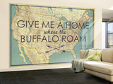 Give me a Home where the Buffalo Roam - 1933 United States of America Map Vægplakat, stor