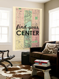 Find Your Center - 1867, New York City, Central Park Composite, New York, United States Map Wall Mural