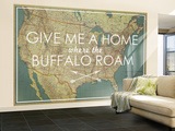 Give me a Home where the Buffalo Roam - 1933 United States of America Map Vægplakat, stor af National Geographic Maps