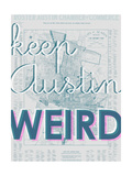 Keep Austin Weird - 1939, Austin Chamber of Commerce, Texas, United States Map Giclee Print