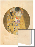Old Masters, New Circles: The Kiss, c.1907 Wood Print by Gustav Klimt