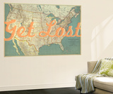 Get Lost - 1933 United States of America Map Wall Mural