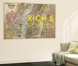 Lifestyles of the Rich & Homeless - 1891, New York, Brooklyn, & Jersey City Map Wall Mural