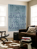 Dare to Dream in a City the Never Sleeps - 1867, New York City, Central Park Composite Map Wall Mural