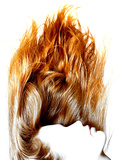 Beautiful Hair, Burning Flame Plastic Sign
