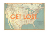 Get Lost - 1933 United States of America Map Impression giclée