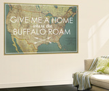 Give me a Home where the Buffalo Roam - 1933 United States of America Map Wall Mural by  National Geographic Maps