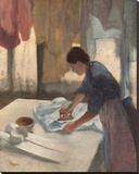 Woman Ironing, c.1876 - 1887 Stretched Canvas Print by Edgar Degas