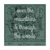 Over the Mountains & Through the Woods - 1881, Yellowstone National Park 1881 Map Giclee Print