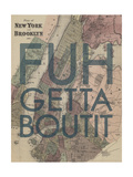 FUHGETTABOUTIT - 1867, New York & Brooklyn Plan, New York, United States Map Giclee Print