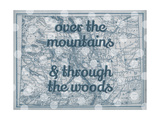 Over the Mountains & Through the Woods - 1890, United States, Colorado, North America, Colorado Map Giclee Print