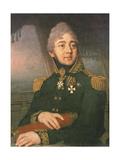 Portrait of the Russian Poet Evgeny Boratynsky (1800-44), 1820s Giclee Print by Vladimir Lukich Borovikovsky