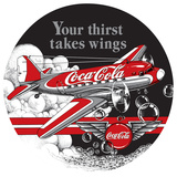 Coke Die-Cut Tin Sign