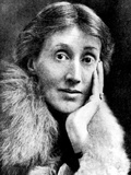 Portrait of Virginia Woolf, English Novelist and Essayist Konst på metall