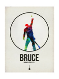 Bruce Watercolor Alu-Dibond von David Brodsky