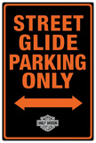 Harley-Davidson Street Glide Parking Tin Sign