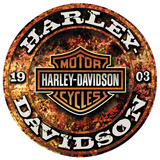 Harley-Davidson Stone Rust Tin Sign
