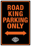 Harley-Davidson Road King Parking Tin Sign