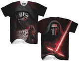 Star Wars Force Awakens- Kylo Ren Sublimated Tee Skjortor