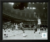 Michael Jordan winning basket in the NCU 1982 NCAA Finals against Georgetown Framed Photographic Print