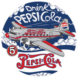 Pepsi Die-Cut Tin Sign