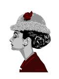Audrey Hepburn - I Believe in Red Metal Print by Emily Gray