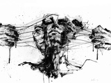 Drawing Restraints Metal Print by Agnes Cecile