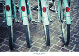 Bicycle Line Up 1 Print by Jessica Reiss