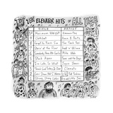 Top Ten Elevator Hits of All Time -- Made-up songs related to elevators, e... - New Yorker Cartoon Premium Giclee Print by Roz Chast