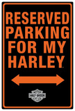 Harley-Davidson Reserved Parking Tin Sign