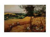 The Harvesters Metal Print by Pieter Breughel the Elder
