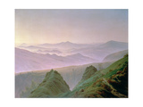 Morning in the Mountains Metal Print by Caspar David Friedrich