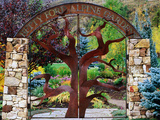 Entrance to Betty Ford Alpine Gardens, Vail, Colorado Metal Print by Holger Leue