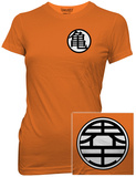 Juniors: Dragon Ball Z- Kame Symbol (Front/Back) T-Shirt