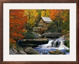 Glade Creek Grist Mill Framed Photographic Print by Robert Glusic