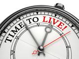 Time To Live Concept Clock Alu-Dibond von  donskarpo