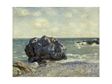 The Laugland Bay, Rock, 1897 Metal Print by Alfred Sisley