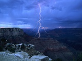 Lightning Above Grand Canyon Metal Print by James Sparshatt