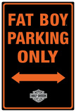 Harley-Davidson Fat Boy Parking Tin Sign