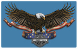 Harley-Davidson Eagle Banner Tin Sign