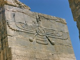 Ahura Mazda, Supreme God in Zoroastrianism, Persepolis, Unesco World Heritage Site, Iran Metal Print by Richard Ashworth