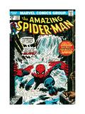 Marvel Comics Retro: The Amazing Spider-Man Comic Book Cover No.151, Flooding Metal Print