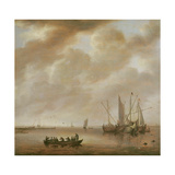 The Calm Sea, 1651 Giclee Print by Willem van Diest