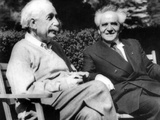 Albert Einstein with Israel's Prime Minister, David Ben-Gurion Stampa su metallo