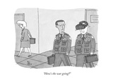 """How's the war going?"" - New Yorker Cartoon Premium Giclee Print by Peter C. Vey"
